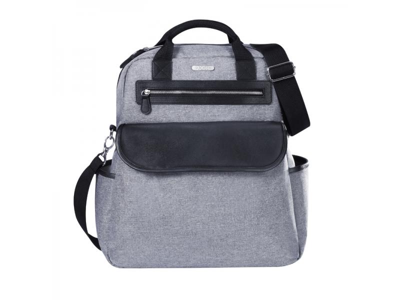 Přebalovací batoh a taška na kočárek 2v1 DUAL, grey melange 1