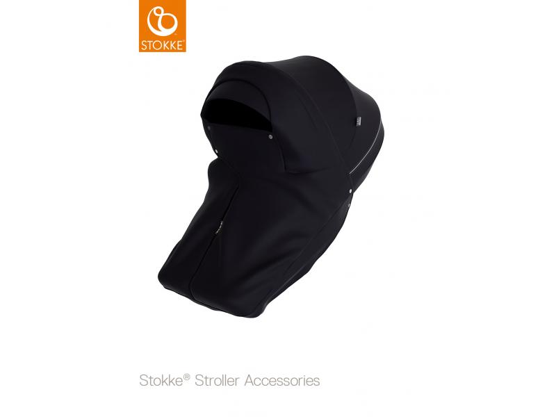 Stokke Kryt proti větru a dešti na kočárek Xplory®,Trailz™,Scoot™, Black