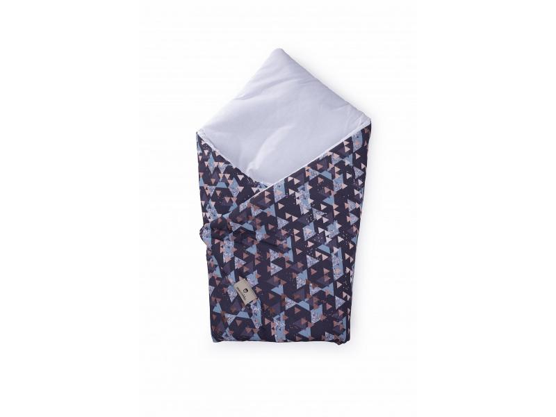 Zavinovačka Nature bavlna, Triangles-bílá 1
