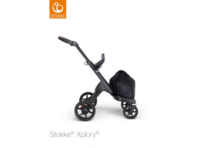 Stokke Podvozek Xplory® V6 Black, hnědé madlo