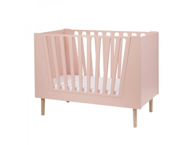 DONE BY DEER Dětská postýlka 120x60 cm - růžová