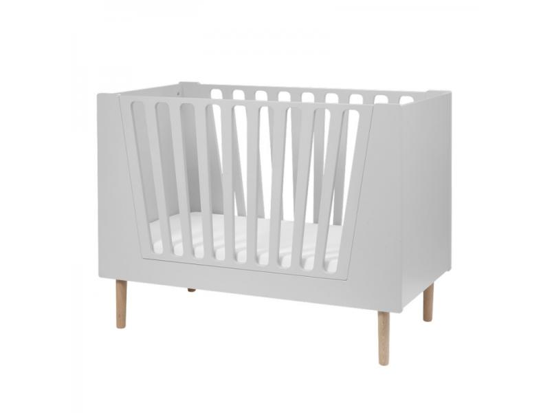 Dětská postýlka 120x60 cm - šedá 1