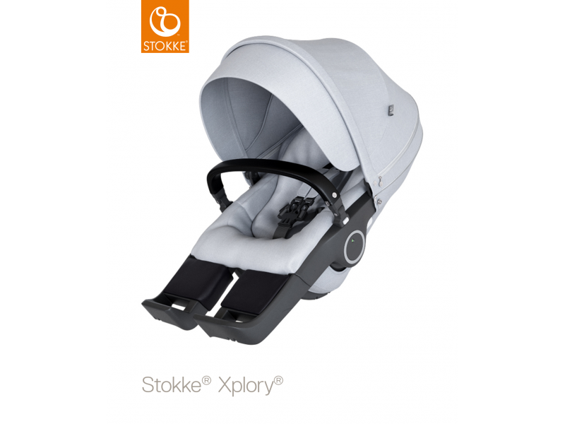 Stokke Sedák na kočárky Xplory® V6, Trailz™ - Grey Melange