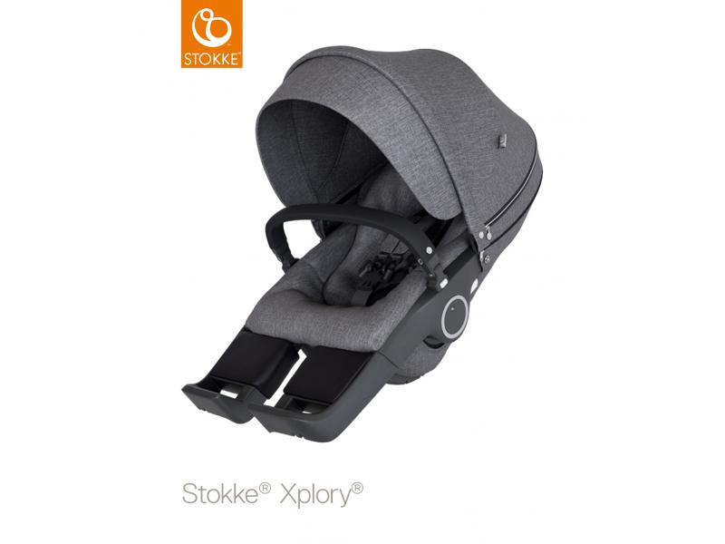 Stokke Sedák na kočárky Xplory® V6, Trailz™ - Black Melange