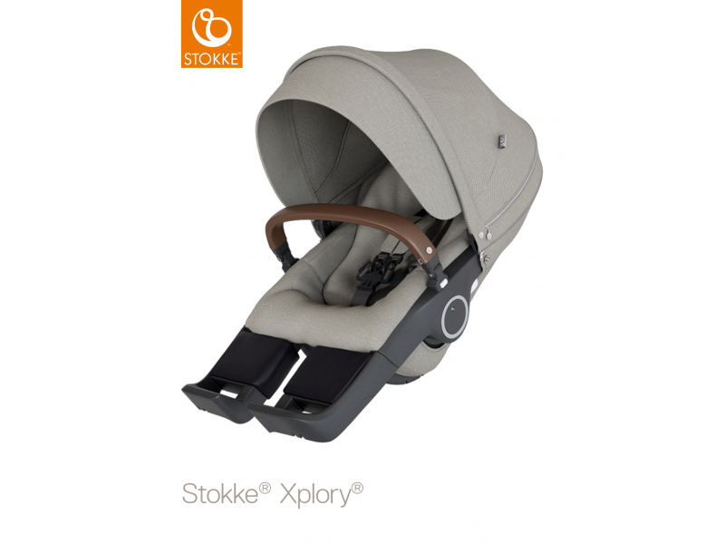 Stokke Sedák na kočárky Xplory® V6, Trailz™ - Brushed Grey