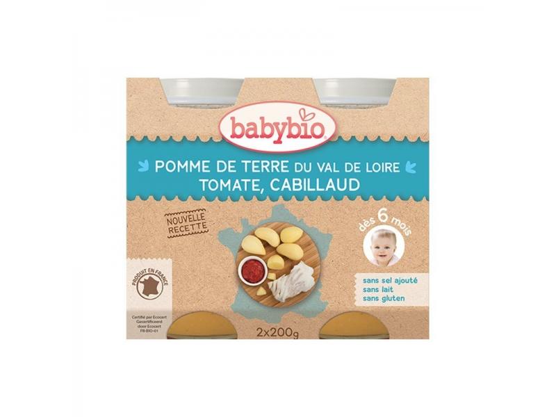 BabyBio menu brambory s treskou 2x200g