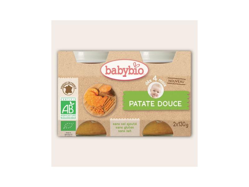 BabyBio příkrm sladké brambory 2x130g