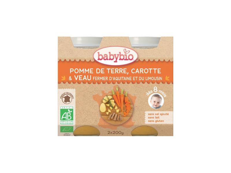 BabyBio menu brambory s mrkví, rajčaty a telecím masem