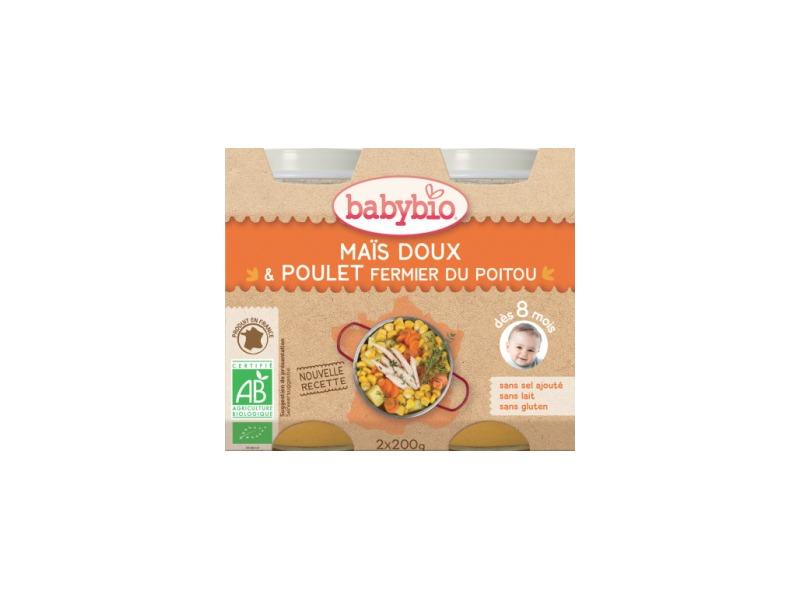 BabyBio menu sladká kukuřice s kuřecím masem 2x200g