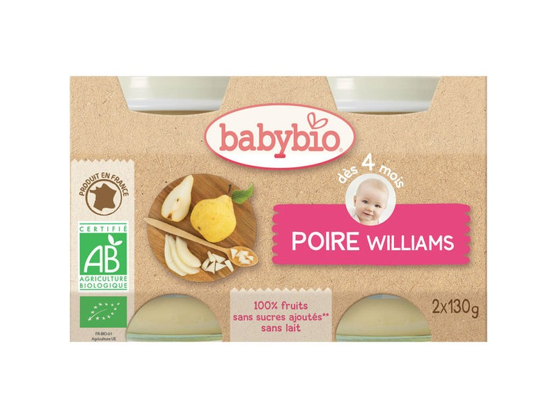BabyBio příkrm hruška Williams 2x130g