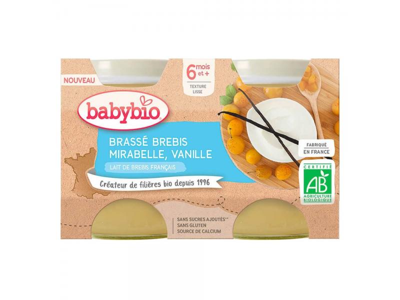 Brassé z ovčího mléka mirabelky vanilka 2x130 g 1