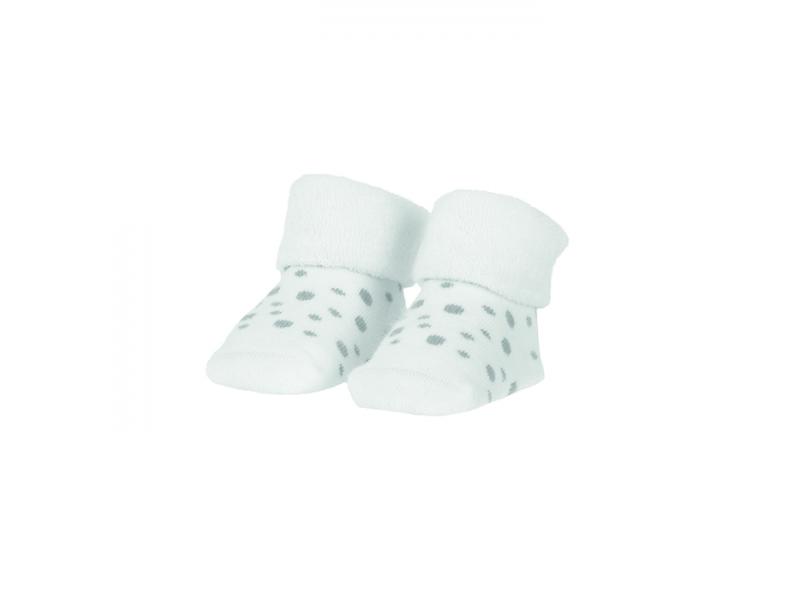 BAMBAM  Ponožky organické sada bílá/puntíky 1