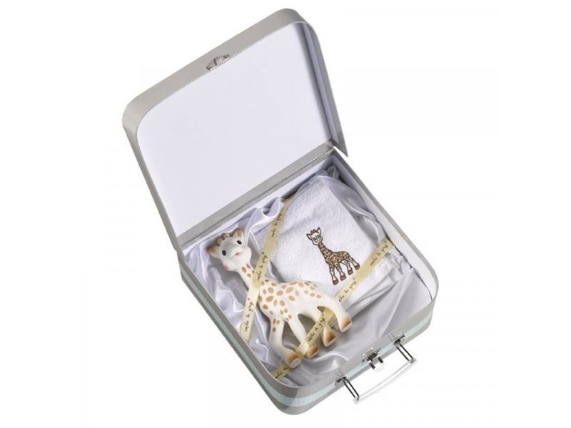 Vulli Dárkový kufřík žirafa Sophie + froté ručník