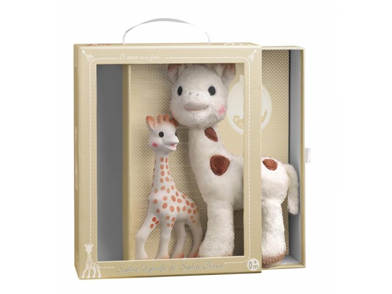 Vulli Set žirafa Sophie & plyšová žirafka Sophie Chérie