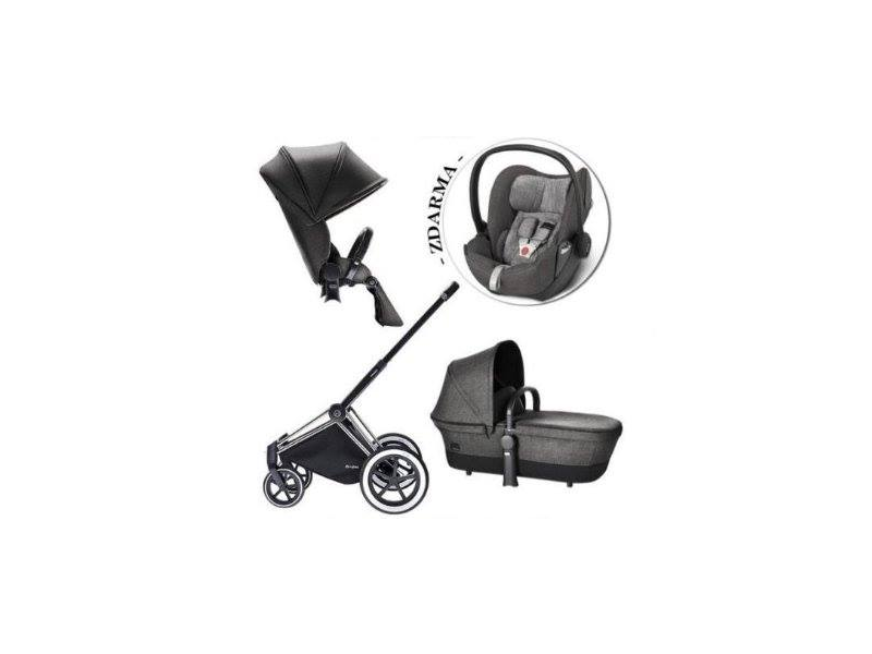 CYBEX Set Priam All Terrain 2018 + Cloud Q Plus manhattan grey