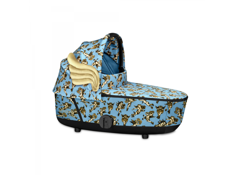Mios Lux Carry Cot JS Cherub Blue 2020 1