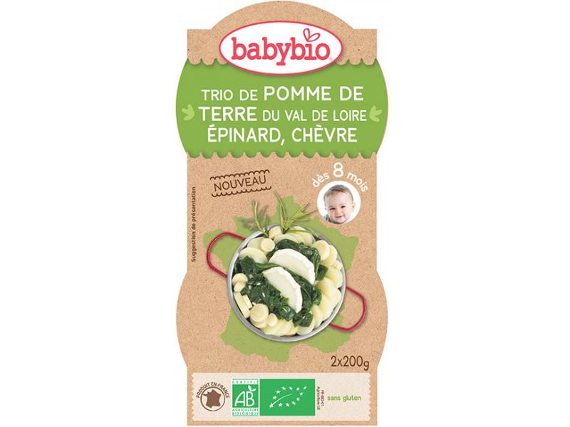 BabyBio Menu bramb.se špenátem,pastiňákem a kozím sýrem