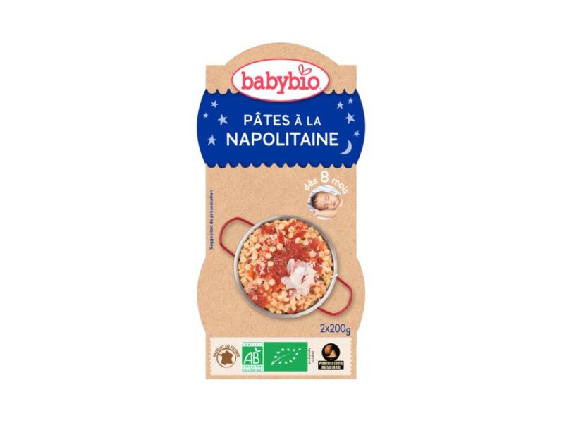 BabyBio večerní menu Neapolské těstoviny 2x200g