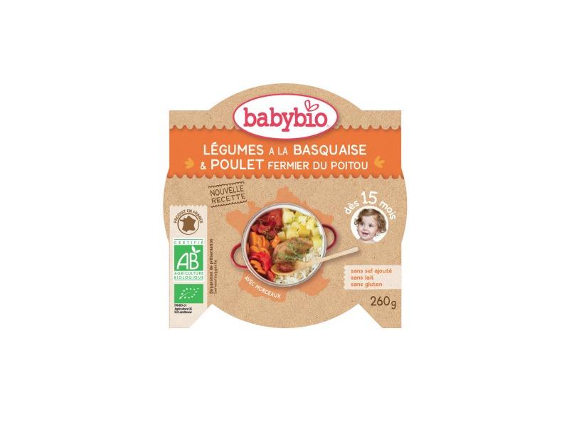 BabyBio menu zelenina s kuřecím masem a rýží 260g
