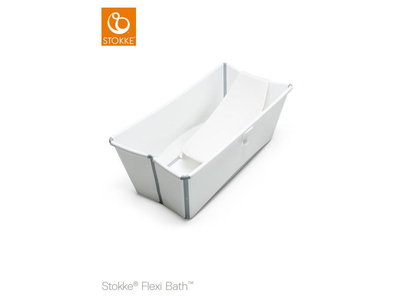 Stokke Skládací vanička a lehátko Flexibath®, White