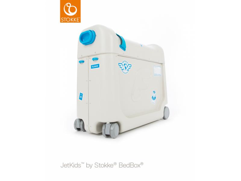 Stokke JetKids™ BedBox® - dětské zavazadlo s lůžkem, modré