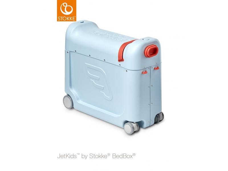 Stokke JetKids™ BedBox® 2.0 - dětské zavazadlo s lůžkem, Blue Sky