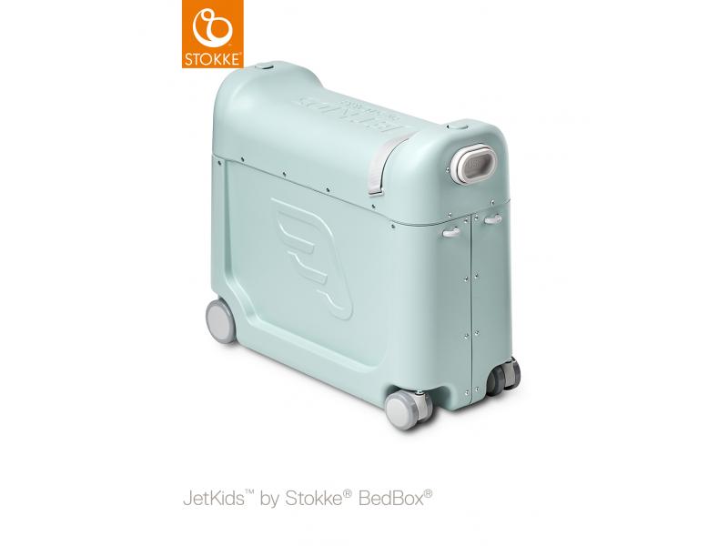 Stokke JetKids™ BedBox® 2.0 - dětské zavazadlo s lůžkem, Green Aurora
