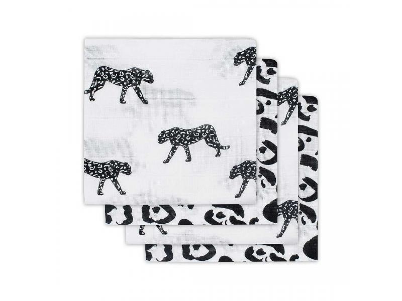 Plena 4 ks, Leopard black white 1