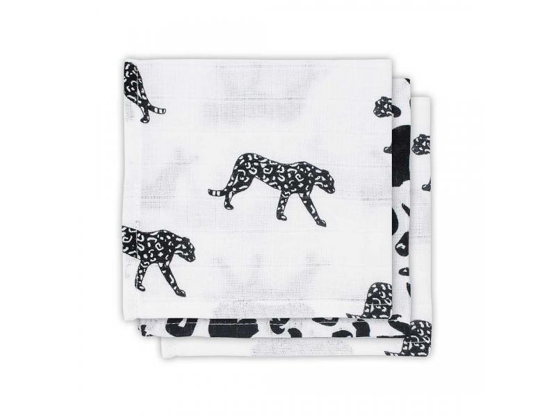 Ručníček 3ks - cena za balení, LEOPARD BLACK WHITE 1