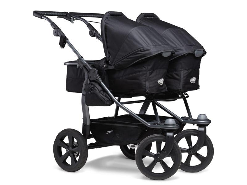 Duo combi push chair - air chamber wheel black 1