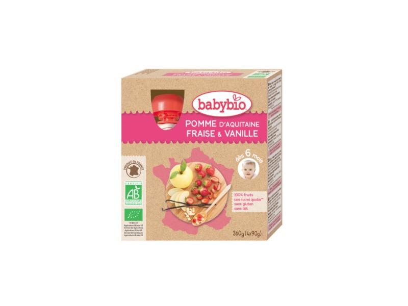 BabyBio kapsička jablko jahoda vanilka 4x90g