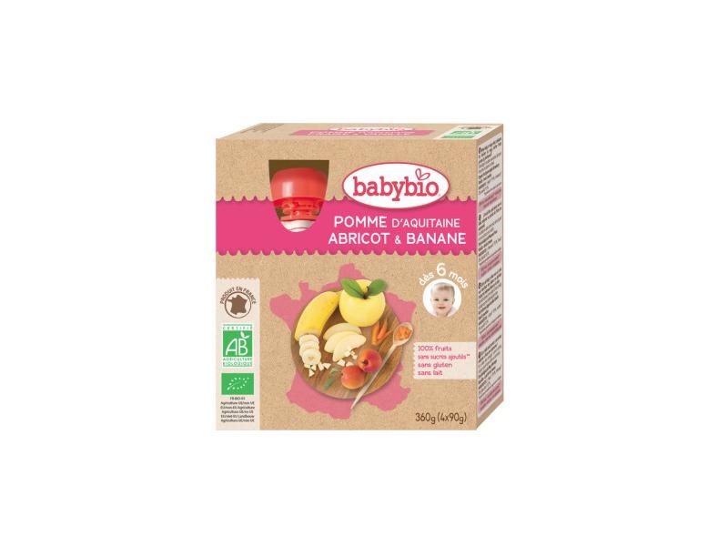 BabyBio kapsička jablko meruňka banán 4x90g