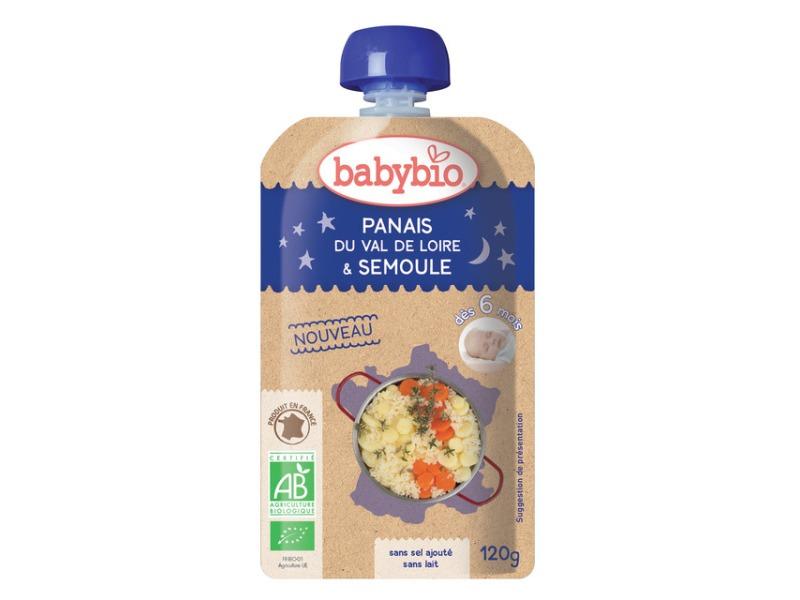 BabyBio kapsička večerní pyré pastinák mrkev krupice z tvrdé pšenice 120g