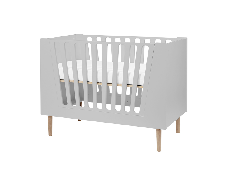 Dětská postýlka 60x120 cm - šedá 1