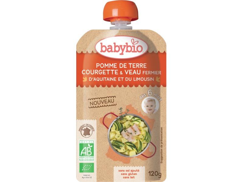 BabyBio kapsička pyré brambory a cuketa s telecím masem 120g