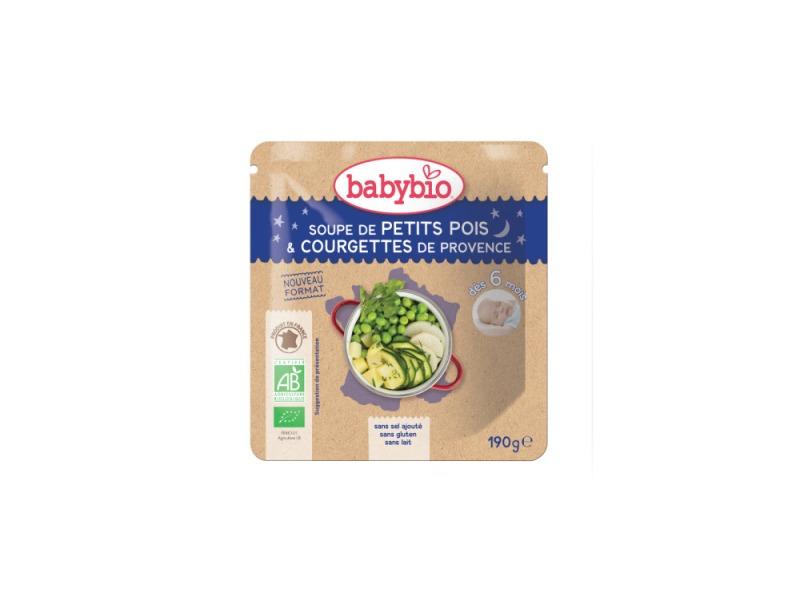 BabyBio hrášková polévka s cuketou 190g