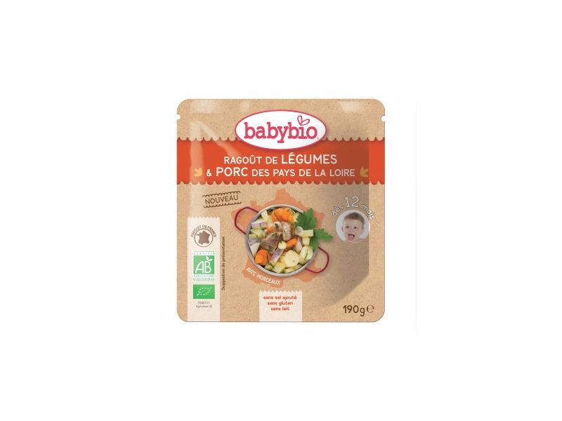 BabyBio menu zeleninové ragout s vepřovým masem 190g