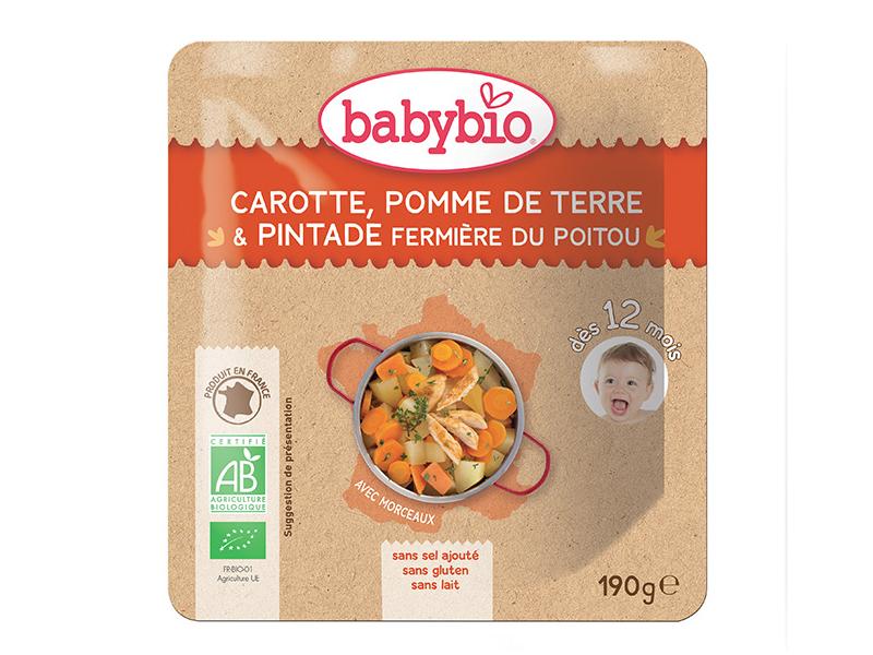 BabyBio menu mrkev a brambory s farmářskou perličkou 190g
