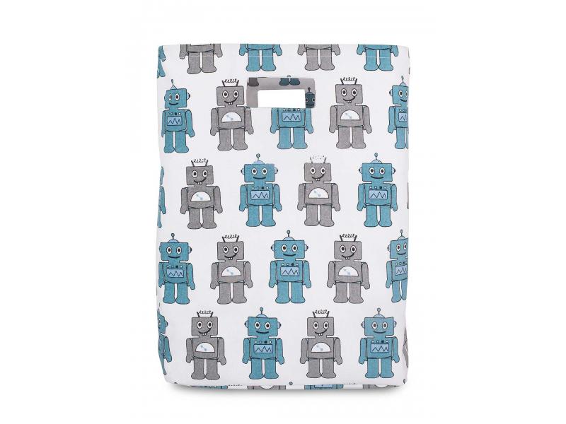 Jollein Koš na hračky XL, Robot Teal