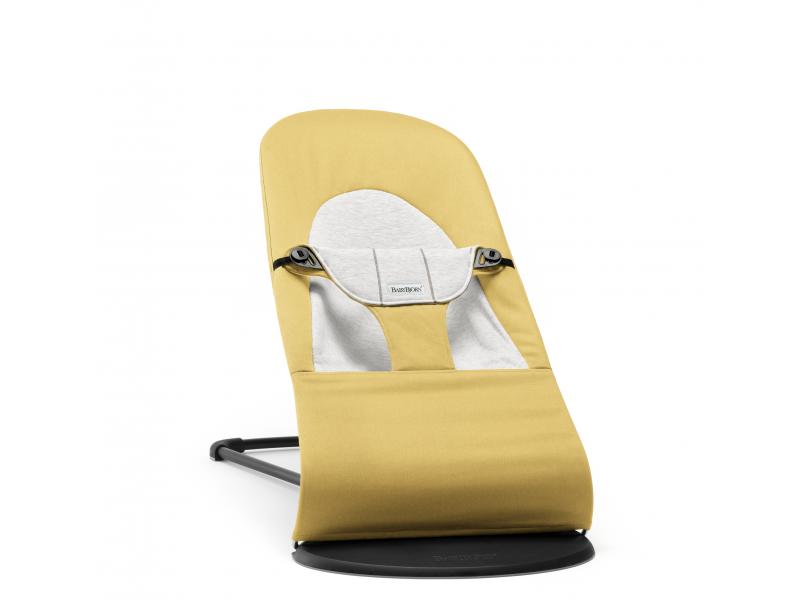 Baby Björn Lehátko Balance Soft Yellow/grey cotton Jersey