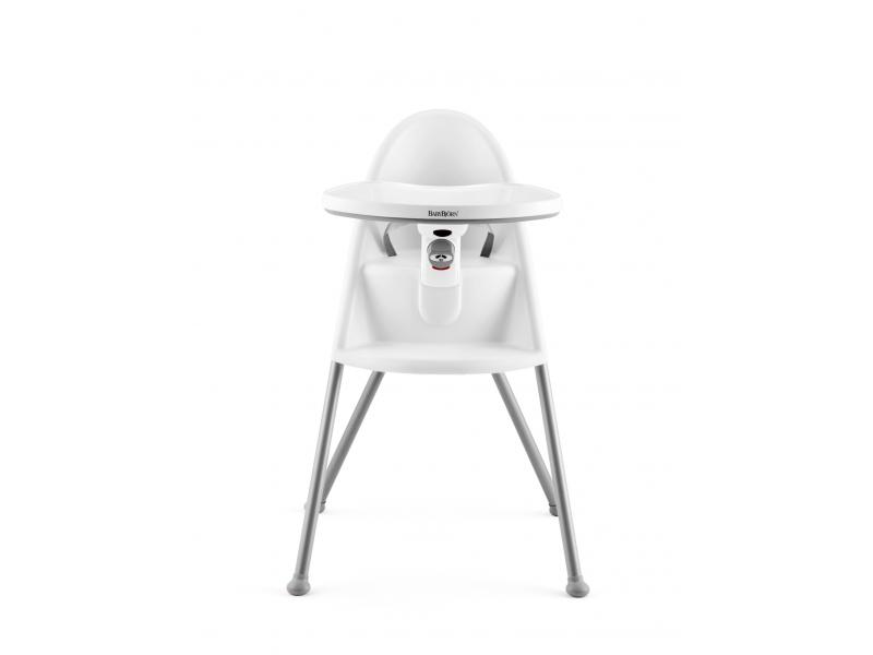 Dětská vysoká židle s pultíkem a pásy White - bílá 1