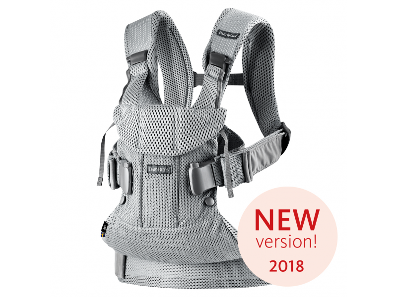 Baby Björn Nosítko ONE 2018 Silver 3D Mesh