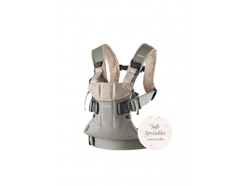 Ergonom.nosítko One, Classic grey / Pink sprinkles, Cotton 1