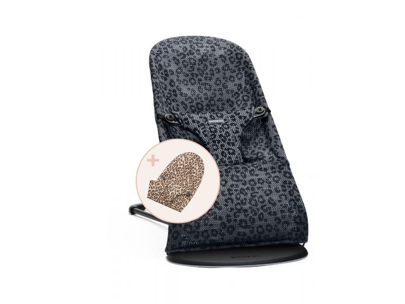 lehátko Bliss Anthracite /Leopard meshs náhrad.potahem Leopard cotton 1
