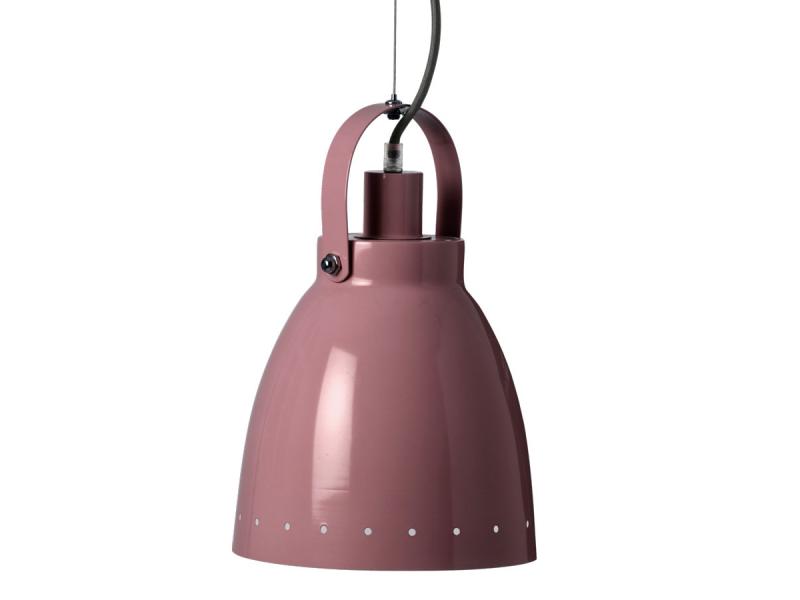 Kovová lampa - tmavě růžová 1