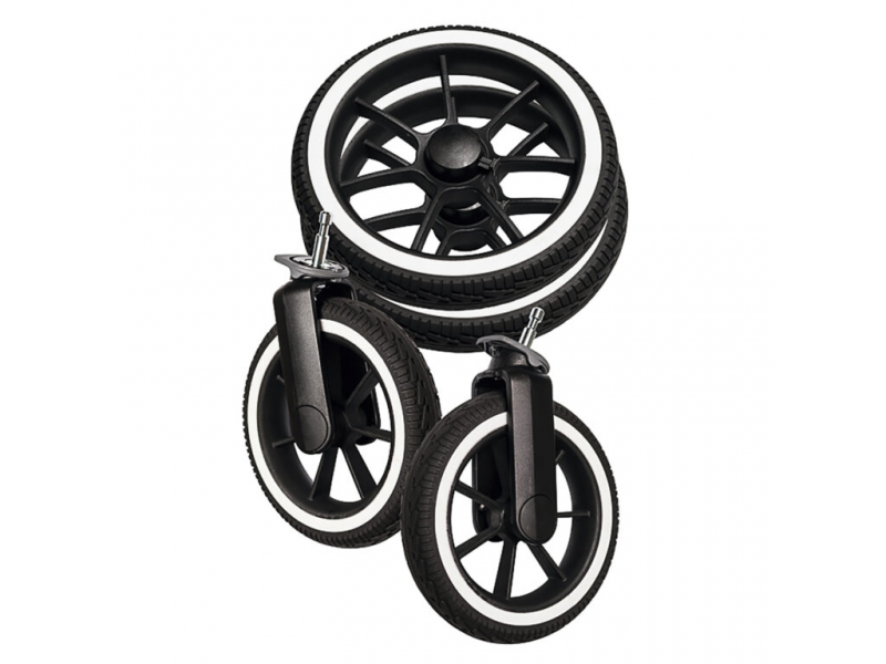 Wheel package DUO S black Solight-EccoR/Whitte 96181 1