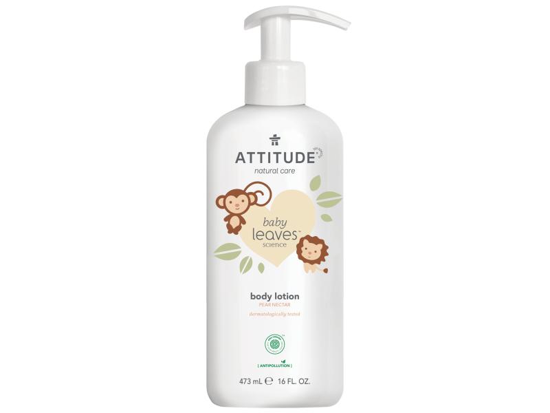 Attitude Dětské tělové mléko Baby leaves s vůní hruškové šťávy 473 ml_NEW