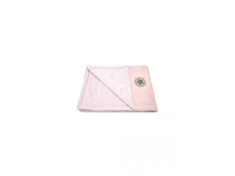 Little Angel deka dvojitá Mazlík Outlast pudrová-stříbrný puntík-sv.pudrová_BP