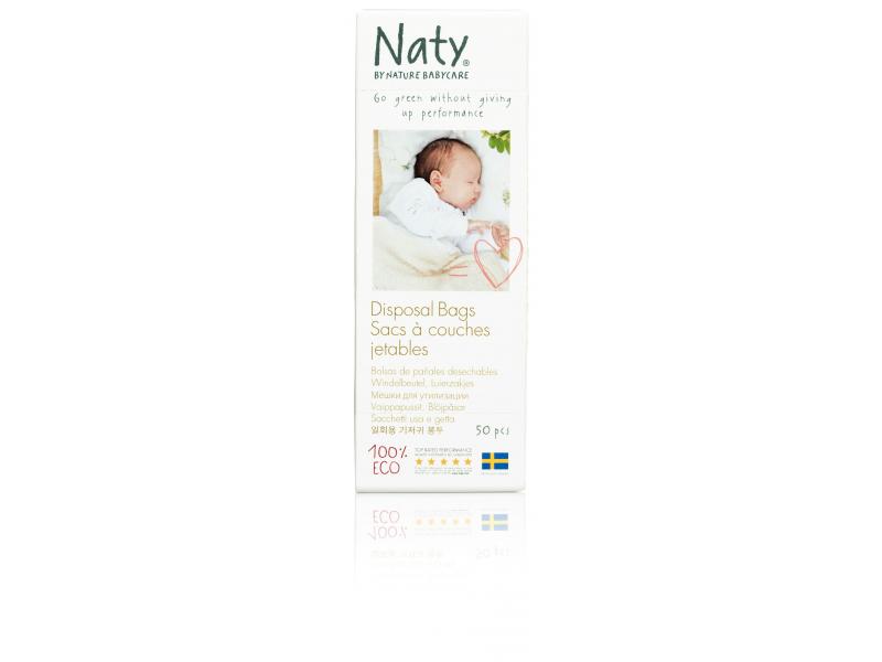 Naty Sáčky na plenky Nature Babycare bez vůně (50 ks)