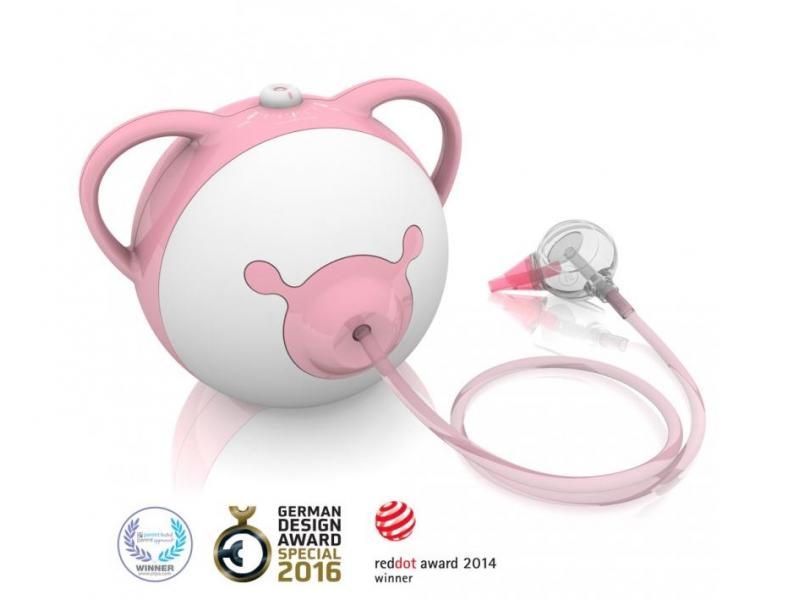 Nosiboo Pro Nasal Aspirator - odsávačka nosní motorová - růžová 1